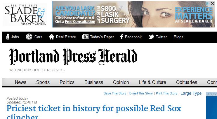 Image of the Portland Press Herald