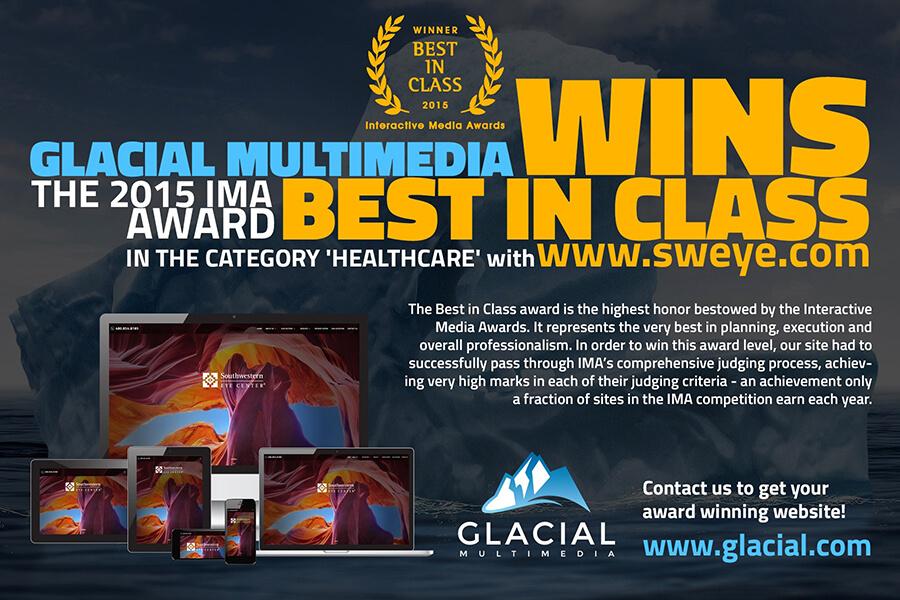 Glacial Multimedia Wins Best in Class, 2015 IMA Award