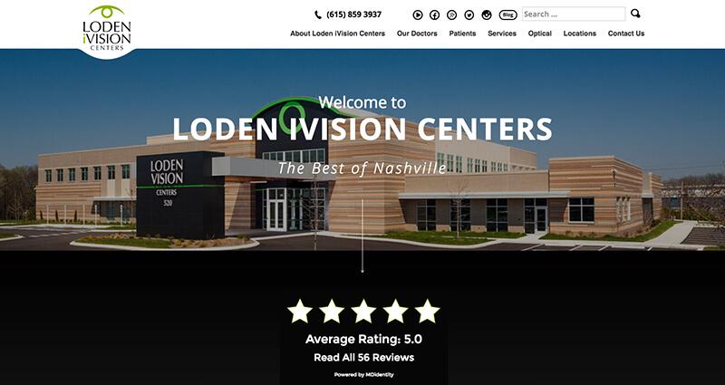 Screenshot of the Loden Vision Website