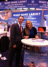 Michael Dobkowski with Lindsey Vonn