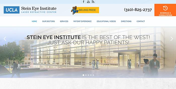 UCLA Stein Eye Institute Website Screen Shot