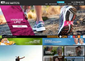 Black Hills Regional Eye Institute Website Screenshot