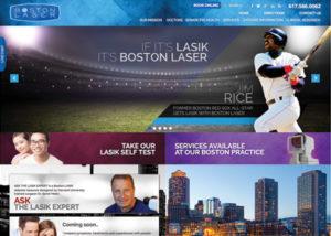 Boston Laser Website Screenshot