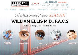 Ellis Eye & Laser Medical Center Website Screenshot