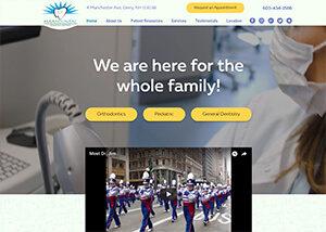 Haas Dental Associates Website Screenshot