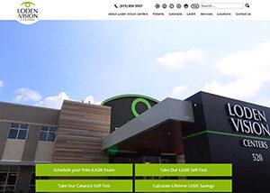 Loden iVision Centers Website Screenshot