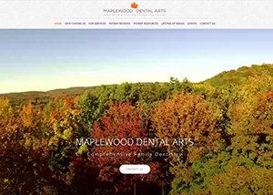 Maplewood Dental Arts Website Screenshot