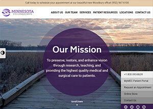 Minnesota Eye Consultants Website Screenshot