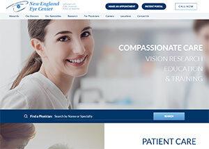 New England Eye Center Website Screenshot