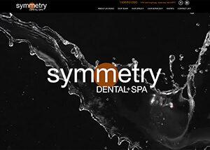Symmetry Dental and Spa Website Screenshot