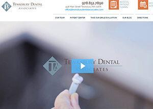 Tewksbury Dental Associates Website Screenshot