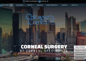 Chicago Cornea Consultants Website Screenshot
