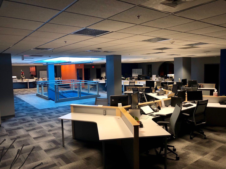 Glacial Multimedia interior design