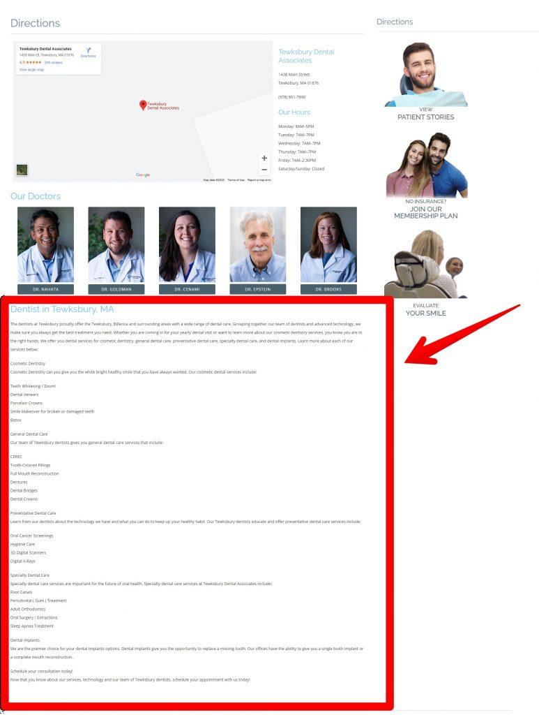 Tewksbury Dentist Bio Page
